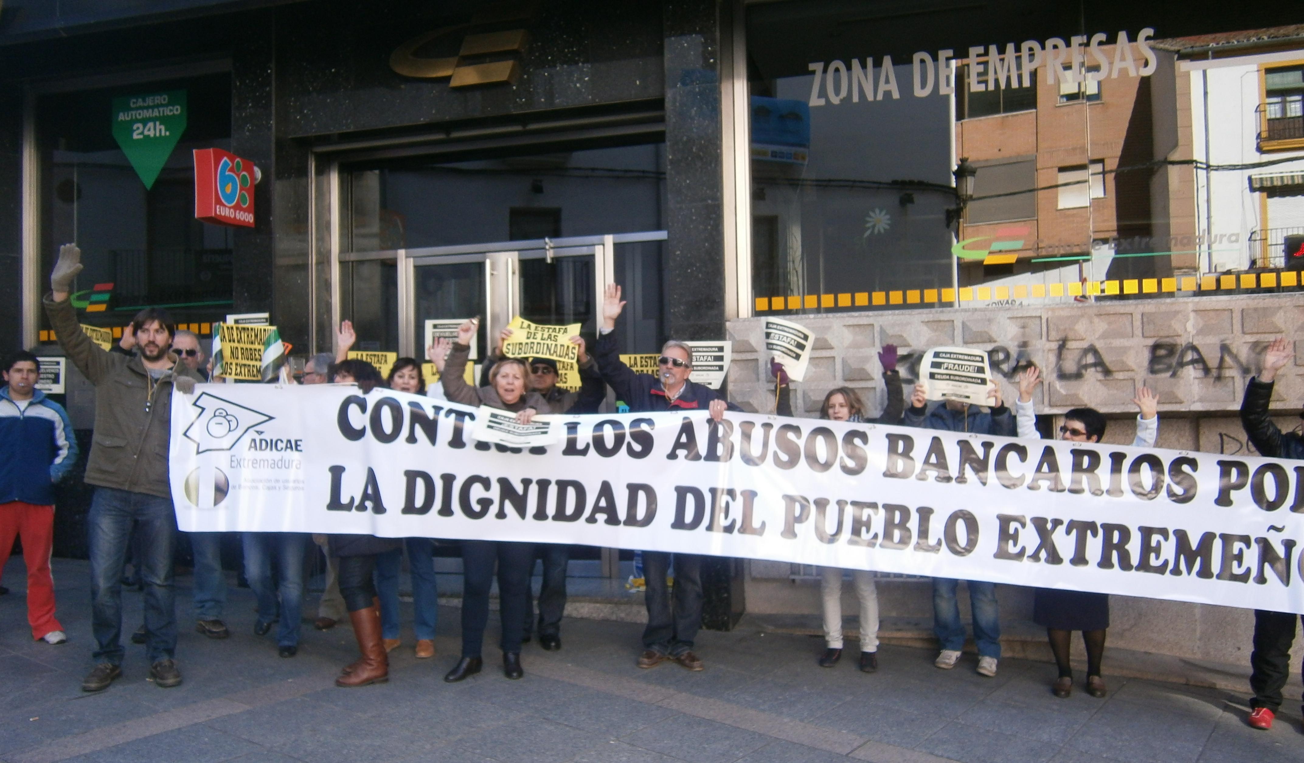 Movilización contra los abusos bancarios