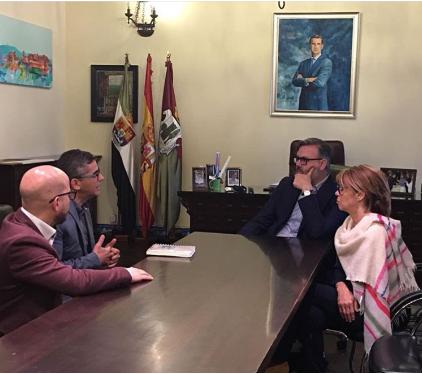 Reunión con el Alcalde de Plasencia. Mayo 2018