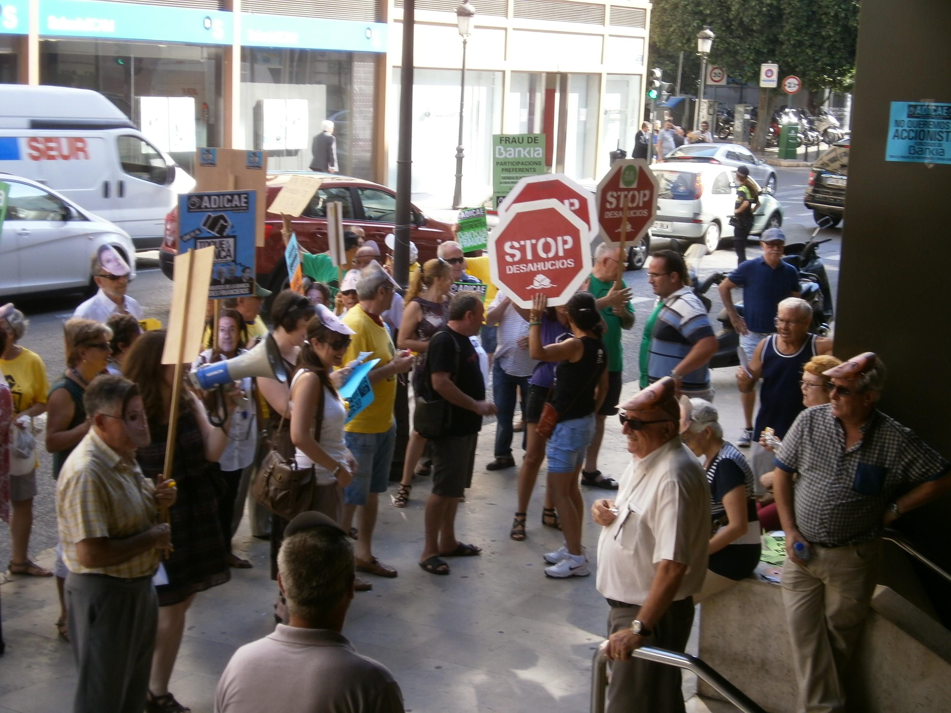 Toque a la Banca Valencia. 25 julio de 2013