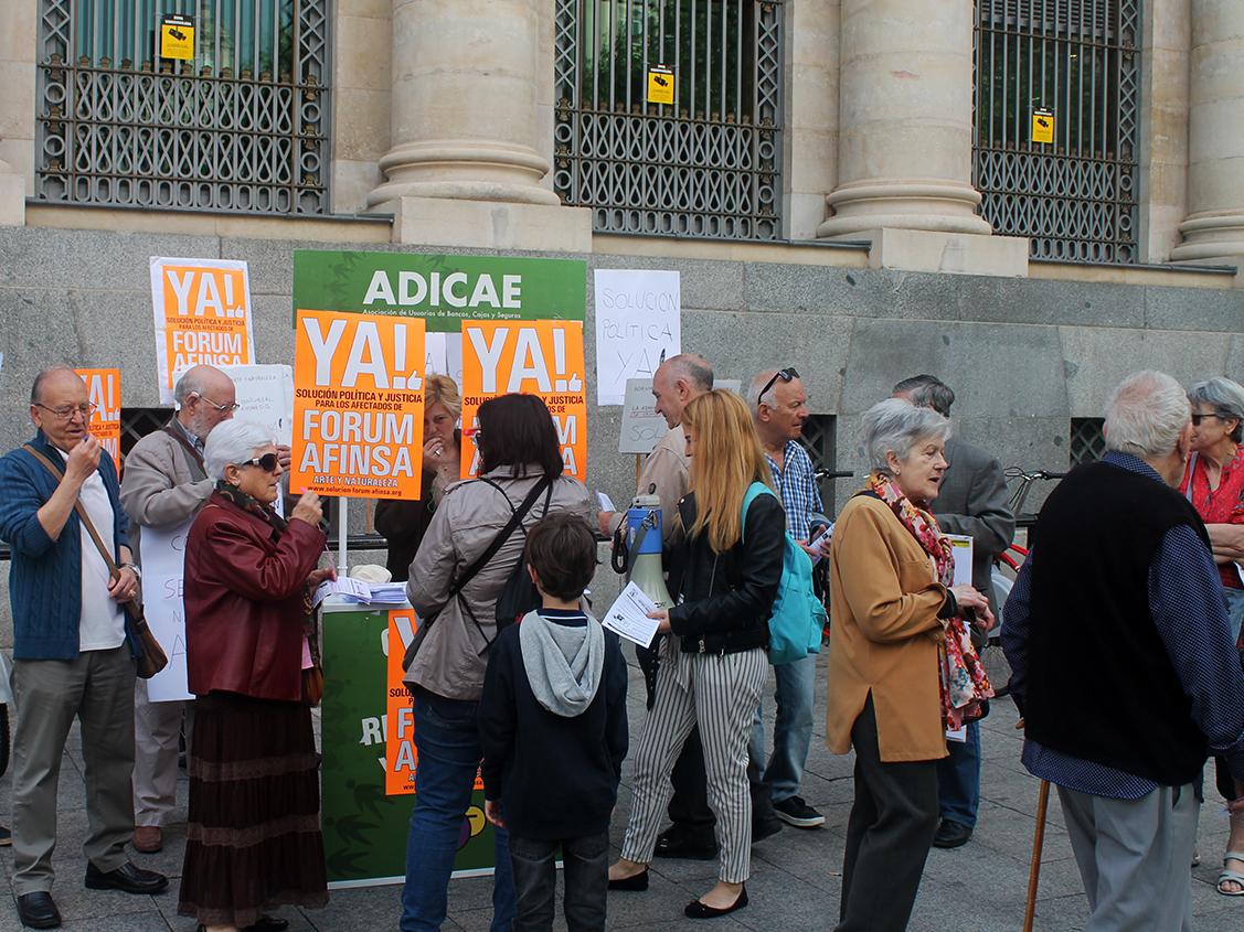 Los afectados por Fórum, Afinsa y Arte y Naturaleza, organizados en ADICAE, siguen reclamando solución y respuesta para una de las mayores estafas de la historia de España.