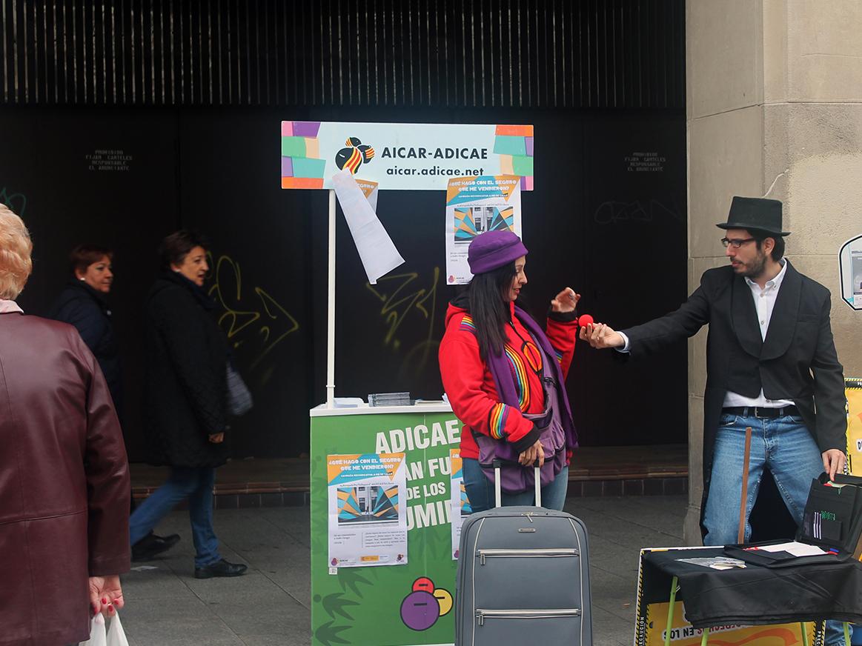 Campaña reivindicativa a pie de calle sobre #Seguros donde la asociación visualizó la realidad de los productos vinculados como los seguros, las clásusulas abusivas y la actualidad de los préstamos hipotecarios.