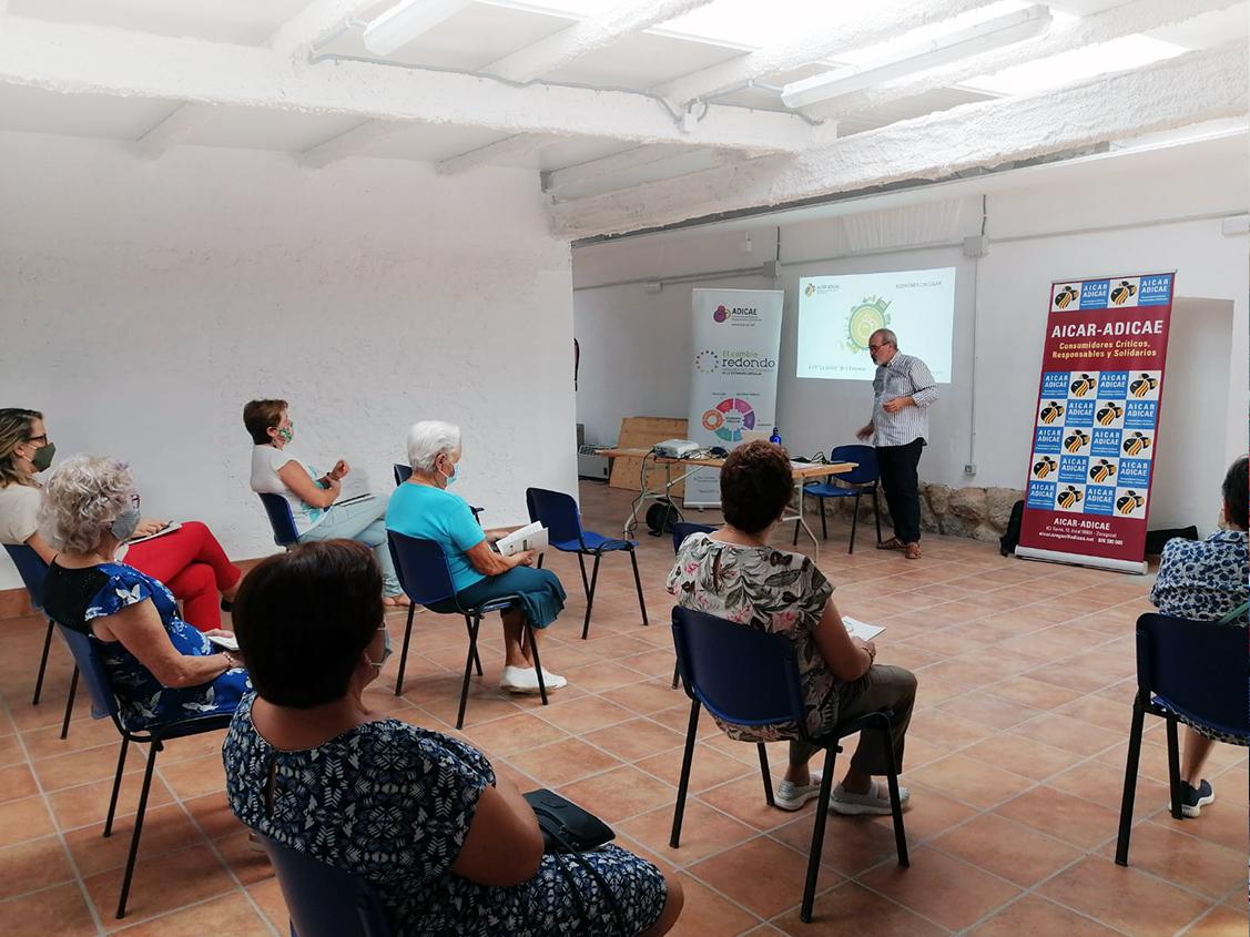 Ciclo de TALLERES DE CONSUMO RESPONSABLE Y SOSTENIBLE ofrecidos por nuestra asociación en Teruel para refozar e impulsar el movimiento de los consumidores en la zona.
