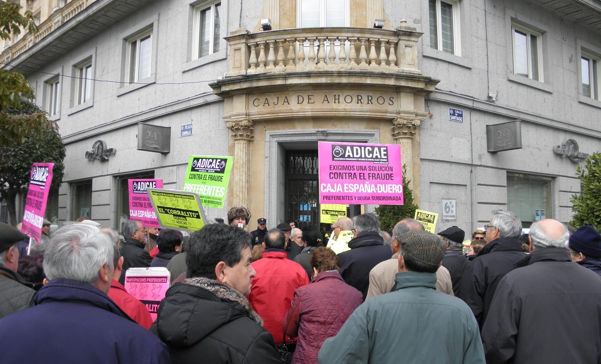 Movilización Valladolid contra el fraude del banco CEISS